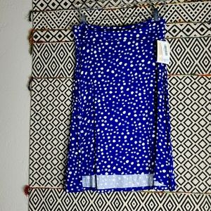 NWT LuLa Roe Blue and White Skirt